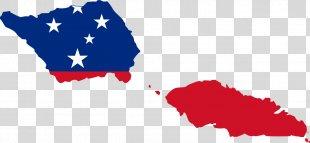 Flag Of Samoa Blank Map - American Flag PNG
