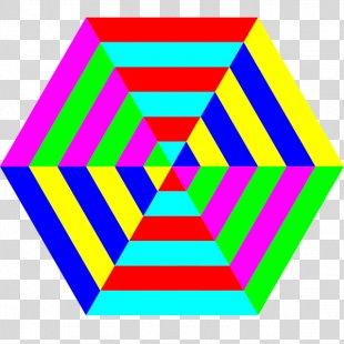 Hexagon Shape Clip Art - Stripes PNG