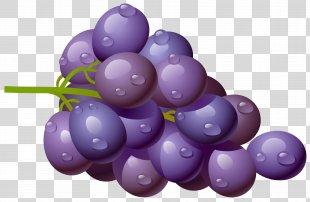 Grape Fruit Clip Art - Purple Cliparts Free PNG