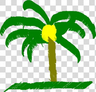 Clip Art Palm Trees Vector Graphics Openclipart Image - Beach Ball Printable Cross Stich PNG