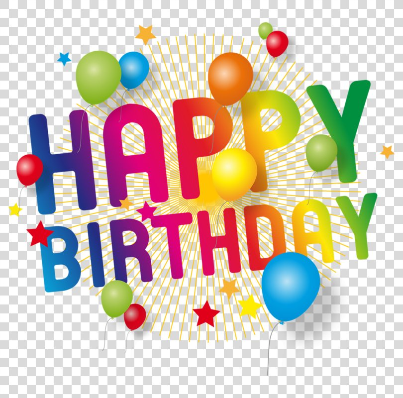 Happy Birthday Text PNG, Free Download