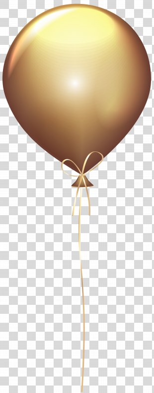 Balloon Gold Clip Art - Gold Balloon Transparent Clip Art Image PNG