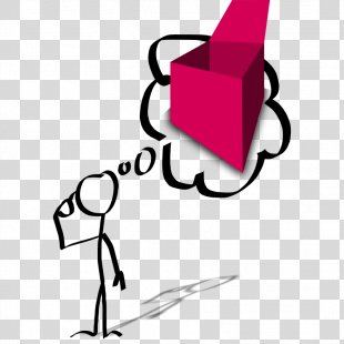 Thought Stick Figure Person Clip Art - Images Of People Thinking PNG
