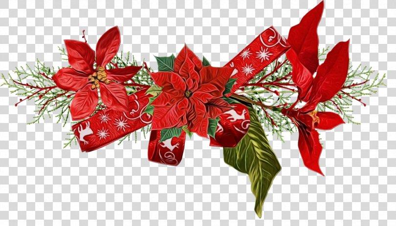 Watercolor Christmas Tree, Christmas Eve Present PNG