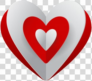 Heart Red Clip Art - White Heart PNG