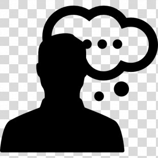 Thought Person Silhouette - People Thinking PNG
