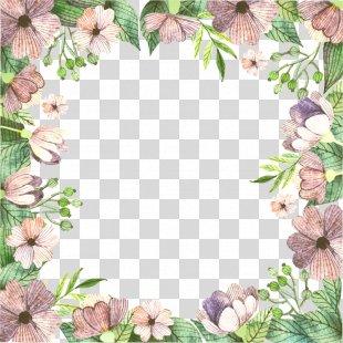 Floral Design Flower Pattern - Vector Floral Border PNG