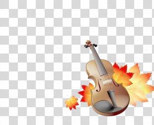 Violin Maple Leaf - Violin PNG
