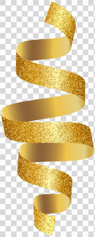 Gold Ribbon Clip Art - Gold Ribbon Transparent Clip Art Image PNG