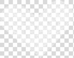 White Black Angle Pattern - White Heart PNG