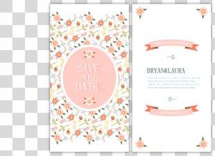 Wedding Invitation Euclidean Vector Marriage Flower - Vector Wedding Invitation PNG