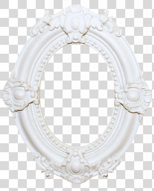 White Oval - Beautiful White Frame PNG