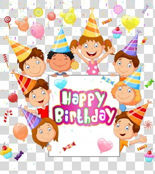 Happy Birthday To You Child Greeting Card - Happy Birthday PNG