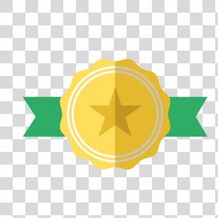 Gold Medal Award - Golden Star Label PNG