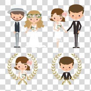 Wedding Invitation Bridegroom Wedding Cake - Creative Wedding Couple Figures PNG