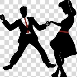 Swing Ballroom Dance Vector Graphics Illustration - Silhouette PNG