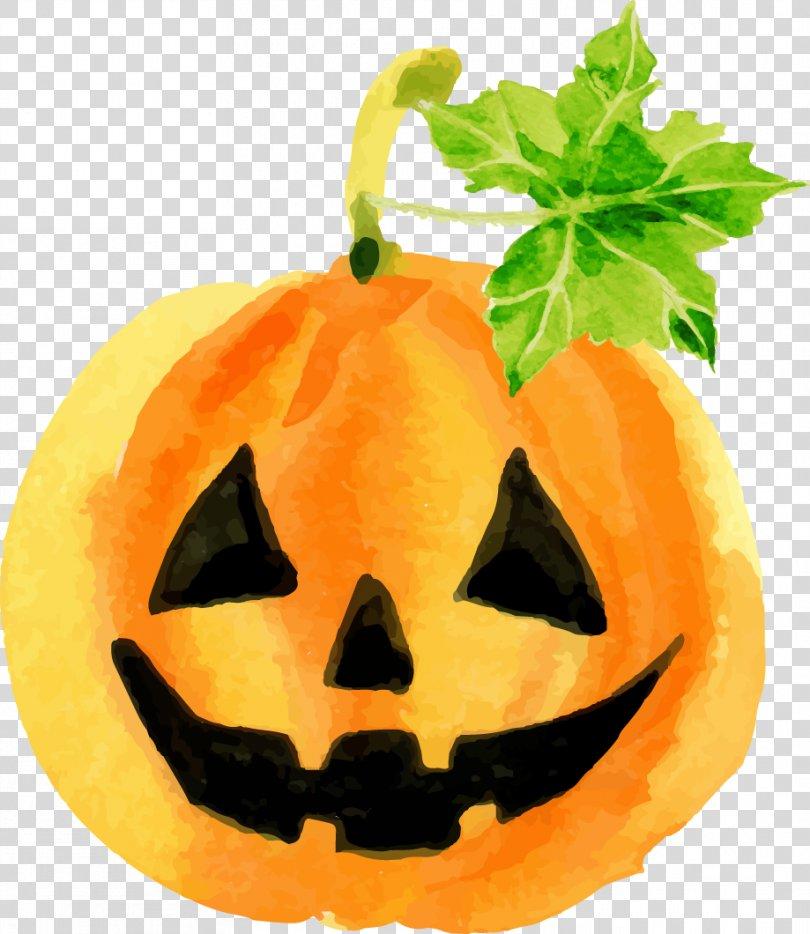 Halloween Pumpkin Jack-o'-lantern Qin Taoyuan Super Group Corporation Calabaza, Halloween Pumpkin Watercolor PNG