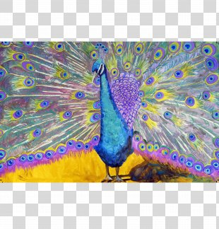 Peafowl Painting Peacock Dance Art Palette - Peacock PNG