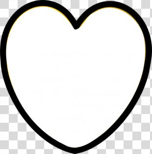 Black And White Heart Clip Art - White Heart PNG