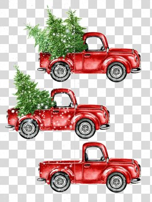 Car Watercolor Painting Christmas - Cartoon Car PNG