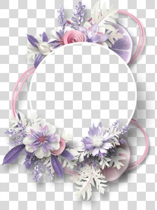 Picture Frame Digital Scrapbooking - Flowers Decorative Circular Border Lemon PNG