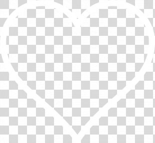 White Symmetry Black Angle Pattern - White Heart Cliparts PNG