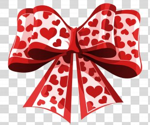 Valentine's Day Heart Gift Clip Art - Hearts PNG