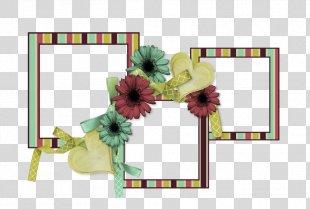 Floral Design Cut Flowers Picture Frames - Design PNG