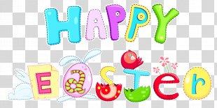 Easter Bunny Desktop Wallpaper Clip Art - Happy Easter PNG