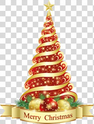 Christmas Tree Christmas Ornament Clip Art - Merry Christmas Red Tree Clipart PNG