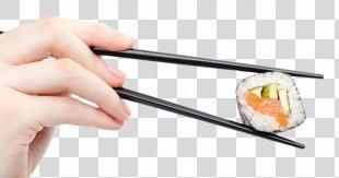 Sushi Chopsticks Japanese Cuisine Makizushi California Roll - Sushi Chopsticks PNG