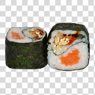 California Roll Sushi Gimbap Unagi Japanese Cuisine - Sushi PNG