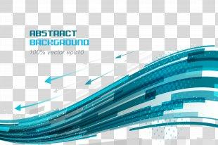 Euclidean Vector Blue Curve Line - Technology Background PNG