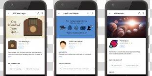 Smartphone Google Assistant Planet Quiz Mobile App - Quiz Contest Poster PNG
