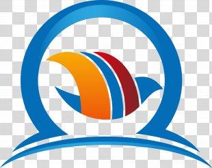 Logo Adobe Illustrator - Hand-painted Blue Circle Logo Design PNG