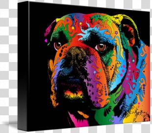 Bulldog Battery Charger Painting Canvas Drawing - Painting PNG