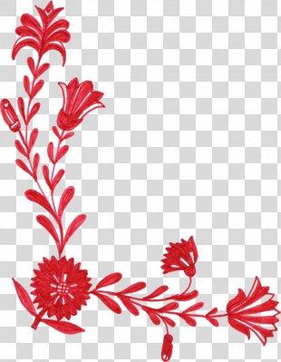 Border Flowers Clip Art - Floral Ornament PNG