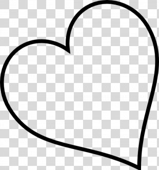 Black And White Heart Font - White Heart Cliparts PNG