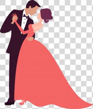 Wedding Invitation Bridegroom Silhouette - Vector Wedding PNG