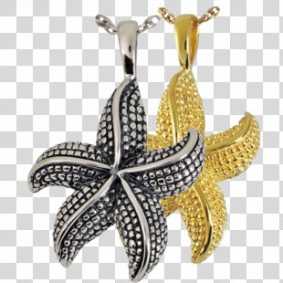 Charms & Pendants Jewellery Sterling Silver Gold - Star Fish PNG