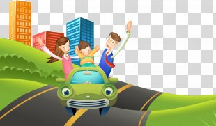 Vertebrate Game Cartoon Text Illustration - Cartoon Driving PNG
