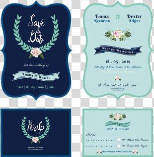 Wedding Invitation Save The Date Illustration - Cartoon Wedding Invitation Design PNG