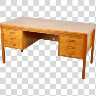 Desk Table Drawer Parquetry Teak - Desk PNG