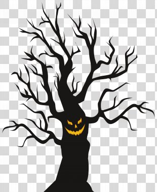 Halloween Clip Art - Halloween Scary Tree Clip Art Image PNG