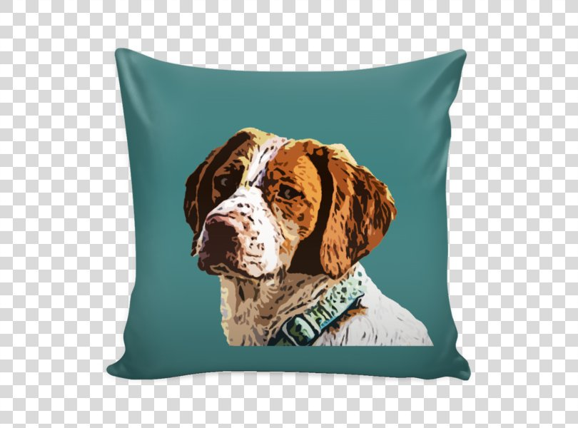 Dog Breed Brittany Dog Throw Pillows Cushion Spaniel, Pillow PNG