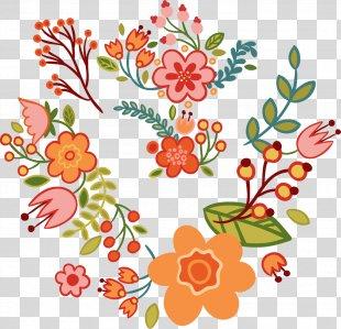 Floral Design Flower Clip Art - Floral Art Deco Word PNG