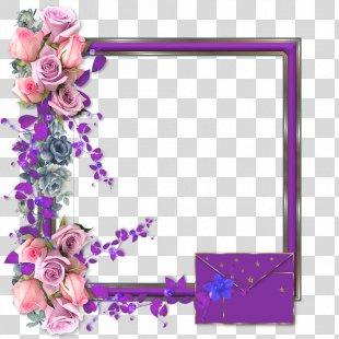 Floral Design Cut Flowers Picture Frames Pink M - Design PNG