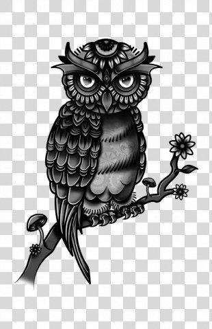 Owl Tattoo Flash Drawing Fashion PNG