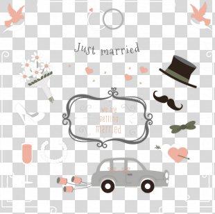Wedding Invitation Marriage - Cartoon Wedding Invitation Card PNG