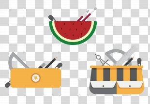 Pencil Stationery - Three Cute Cartoon Pencil Stationery Design PNG